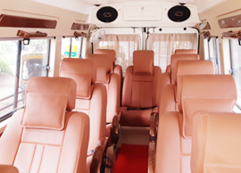 11 seater deluxe 1x1 tempo traveller hire