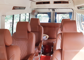 6 1x1 seats with bed deluxe tempo traveller hire