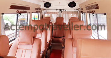 chardham yatra tour by 11 seater deluxe 1x1 tempo traveller